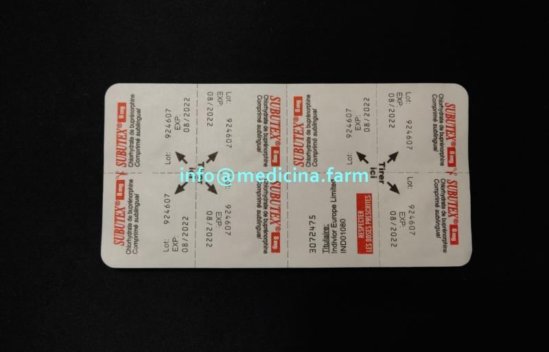 Продам Медицинский Препарат Subutex B8 - Субутекс Б8 Для Заместительной Терапии Suboxone